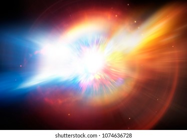 Illustration of a planet or supernova star explosion.