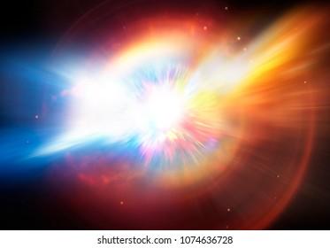 Illustration of a planet or supernova star explosion.