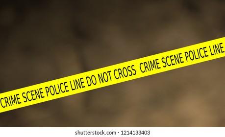 illustration of police line crime scene do not cross