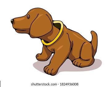 An illustration of a popular German dachshund bobblehead