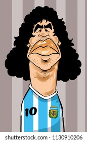 Illustration portrait Diego Armando Maradona