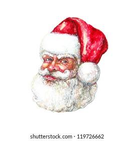 Illustration: Portrait of Santa Claus