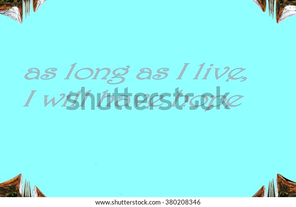 Illustration Proverbs Sayings On Turquoise Background Stock