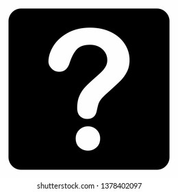 Illustration of a Question icon on dark background