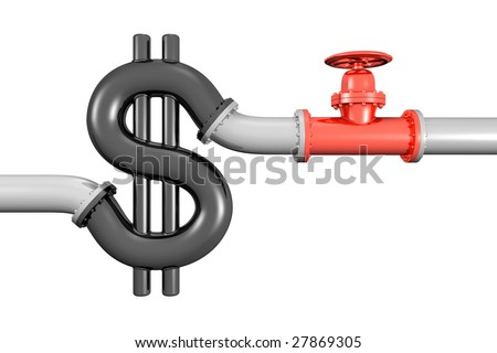 Illustration Red 3 D Shut Off Valve Stock Illustration 27869305