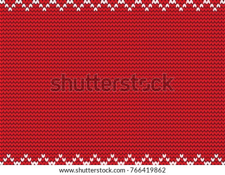 illustration red knitted background knitting pattern stock