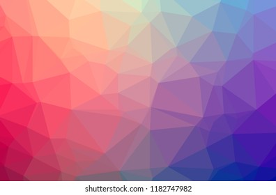 Illustration of red low poly beautiful multicolor background.