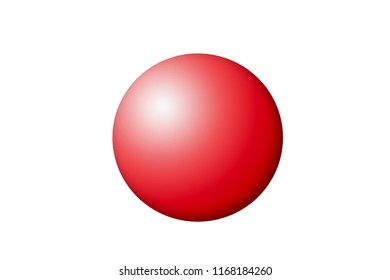 illustration of a red sphere on a white surface
