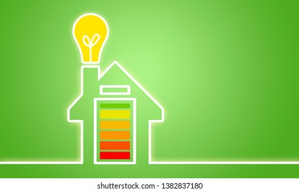 Illustration with renewable energy and energy storage device