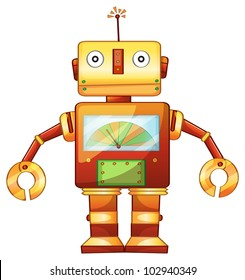 Illustration of a retro robot - EPS VECTOR format also available in my portfolio.