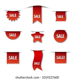illustration of sale banners
