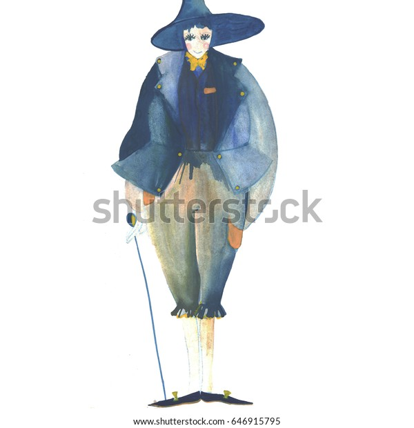 Illustration Scarecrow Wonderful Wizard Oz Stock Illustration 646915795
