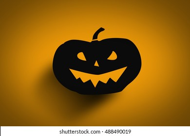 Illustration Of Scary Pumpkin Poster, Background Or Banner For Halloween Party Night.