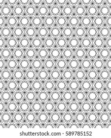 Illustration seamless texture white geometric patterned background