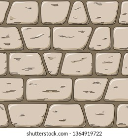 illustration of a seemless hand drawn cartoon wall