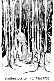 The illustration show the spirit of woods.