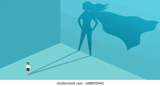 Illustration showing SUPERWOMEN hidden in every women