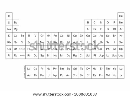 Illustration Simplified Periodic Table Elements Stock Illustration