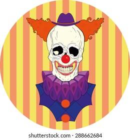 Illustration skull clown