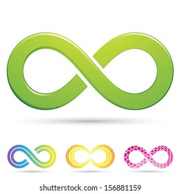 illustration of sleek style Infinity Symbols