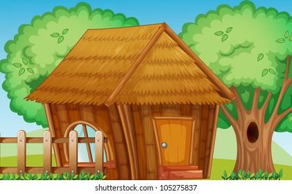 Illustration of a small hut
