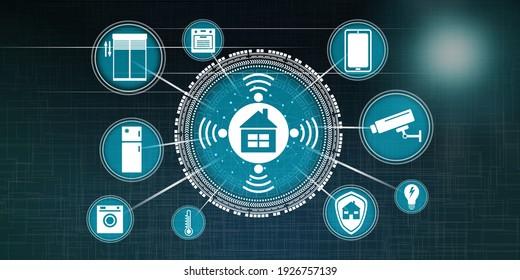 Illustration of a smart home concept