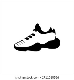 illustration of sneakers. Sports shoes in a line style.