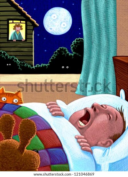 illustration of Snoring