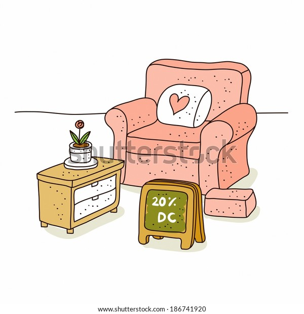 Prime Illustration Sofa Seat Sale Stock Illustration 186741920 Caraccident5 Cool Chair Designs And Ideas Caraccident5Info
