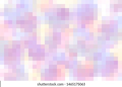 Illustration soft pastel multicolored and colorful mosaic tiles gradient/background/texture