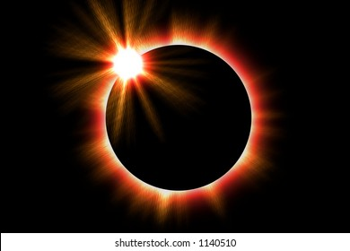 Illustration of a solar eclipse of the sun
