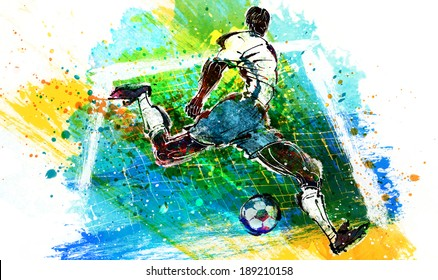 Illustration of sports soccer
