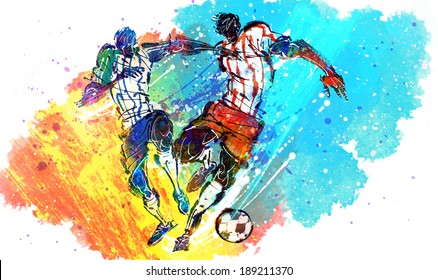 Illustration of sports, soccer