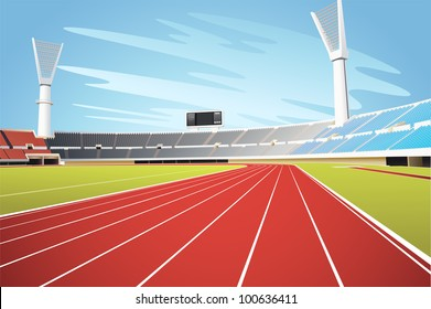 Illustration of sports stadium - EPS VECTOR format also available in my portfolio.