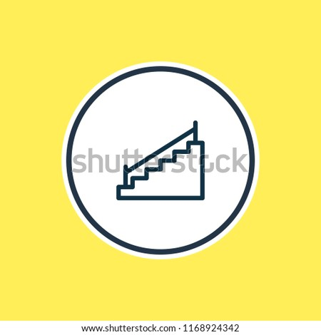 Royalty Free Stock Illustration Of Illustration Stairs Icon Line