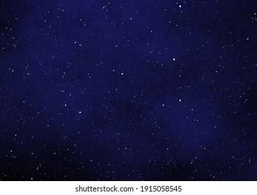 Illustration of stars shining in the dark blue night sky.