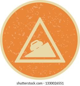 Illustration  Steep ascent Icon