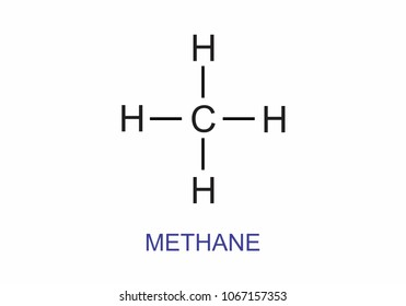 Methane ch4 images stock photos vectors shutterstock illustration of the structural formula of the substance methane urtaz Choice Image