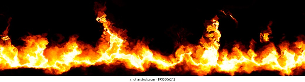 An illustration of a stylized fire banner background