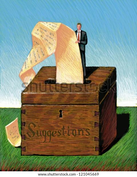 illustration of Suggestion Box
