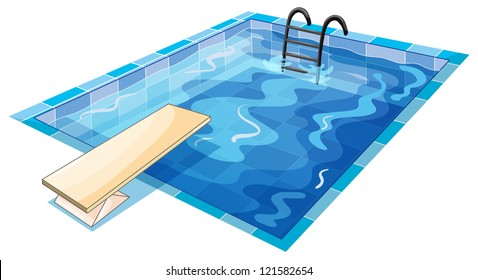 illustration of a swiming tank on a white background