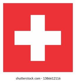 Illustration of the Switzerland flag on white background