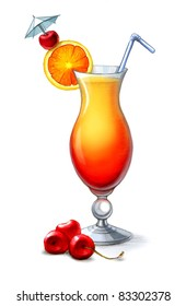 Illustration of Tequila Sunrise