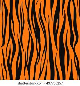 Illustration Of Tiger Print Seamless Pattern Wild Texture For Design Website Background