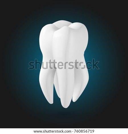illustration tooth realistic teeth template stock illustration