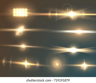 Illustration of Transparent Lens Flare Effect Set