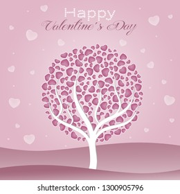 illustration of a tree with hearts
