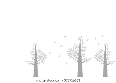 Illustration trees for background