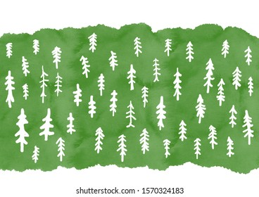 illustration of trees were in the forest