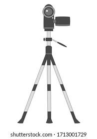 illustration of a Tripod video camera